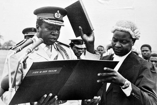 Amin searing in for presidency