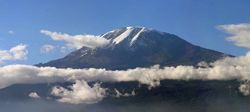 Mount Kilimanjaro in Tanzania - Highest mountain in Africa