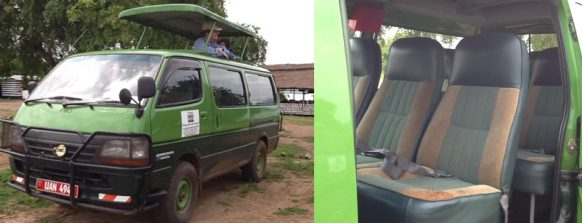 4X4 safari van for hire -wildgorilla safaris