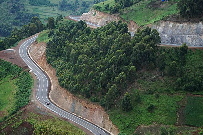 A road to Bwindi Impenetrable National Park